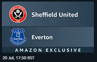 amazon prime video sheffield united v everton